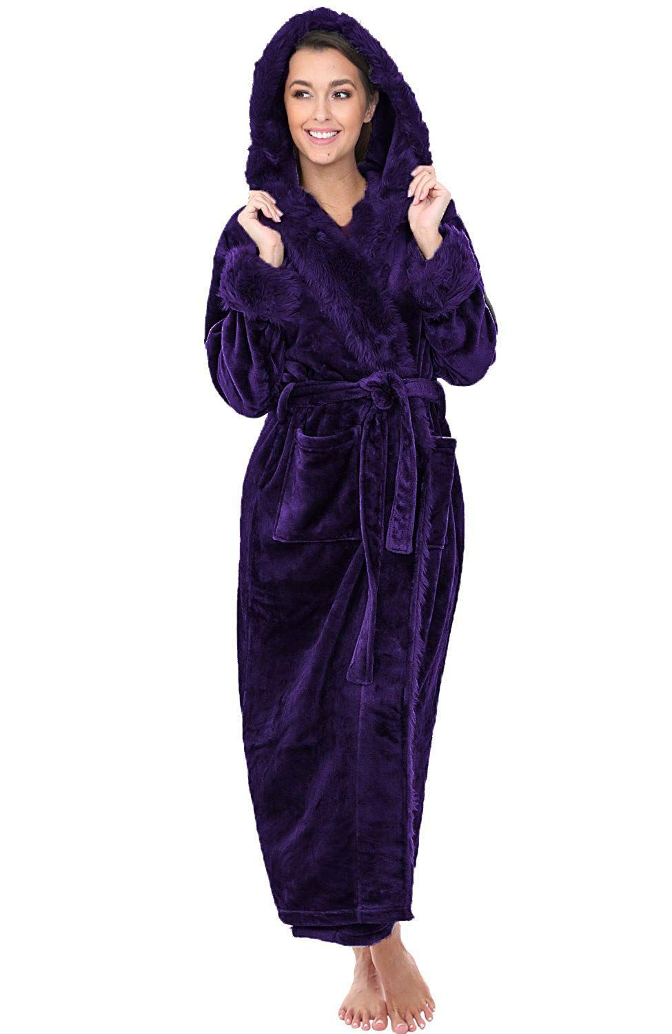 many styles hot new products professional sale Long Hooded Bathrobe