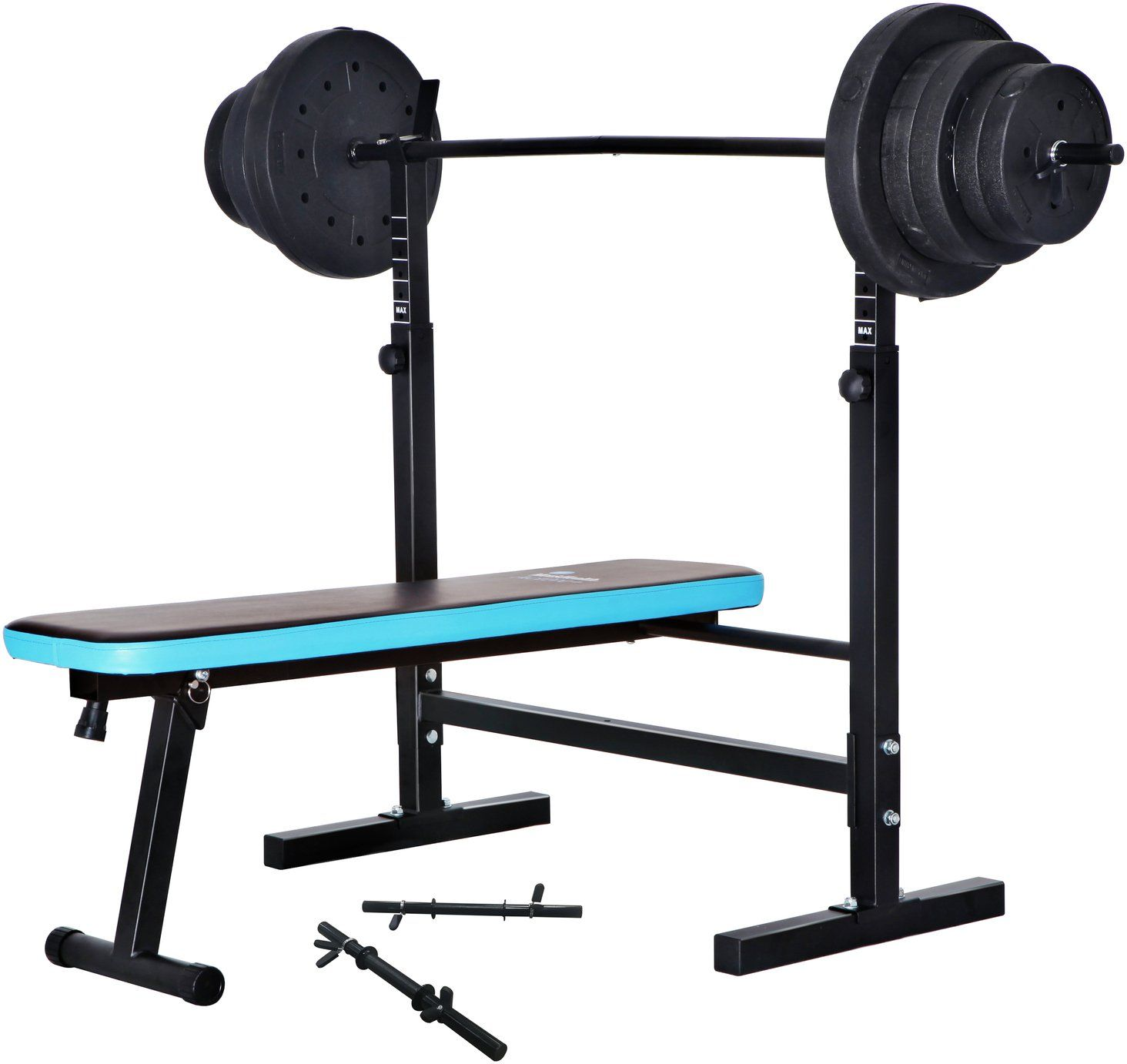 Men S Health Folding Bench With 50kg Weights