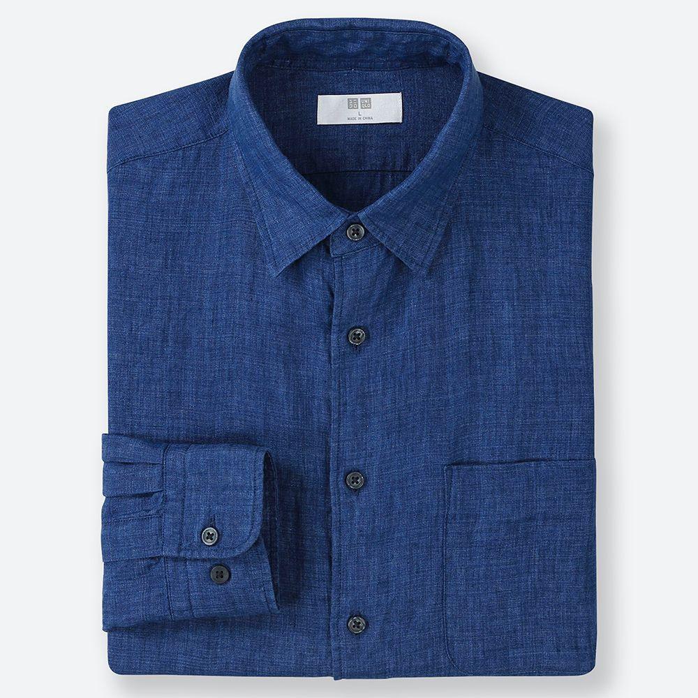 Uniqlo Men's Linen Long-Sleeve Shirt