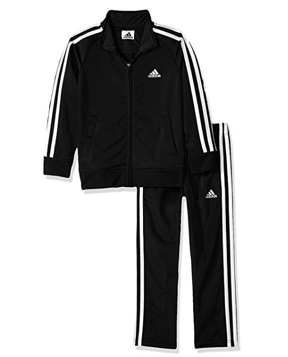 adidas Boys\u0027 Tricot Jacket \u0026 Pant Clothing Set