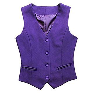 Purple Buttoned Vest