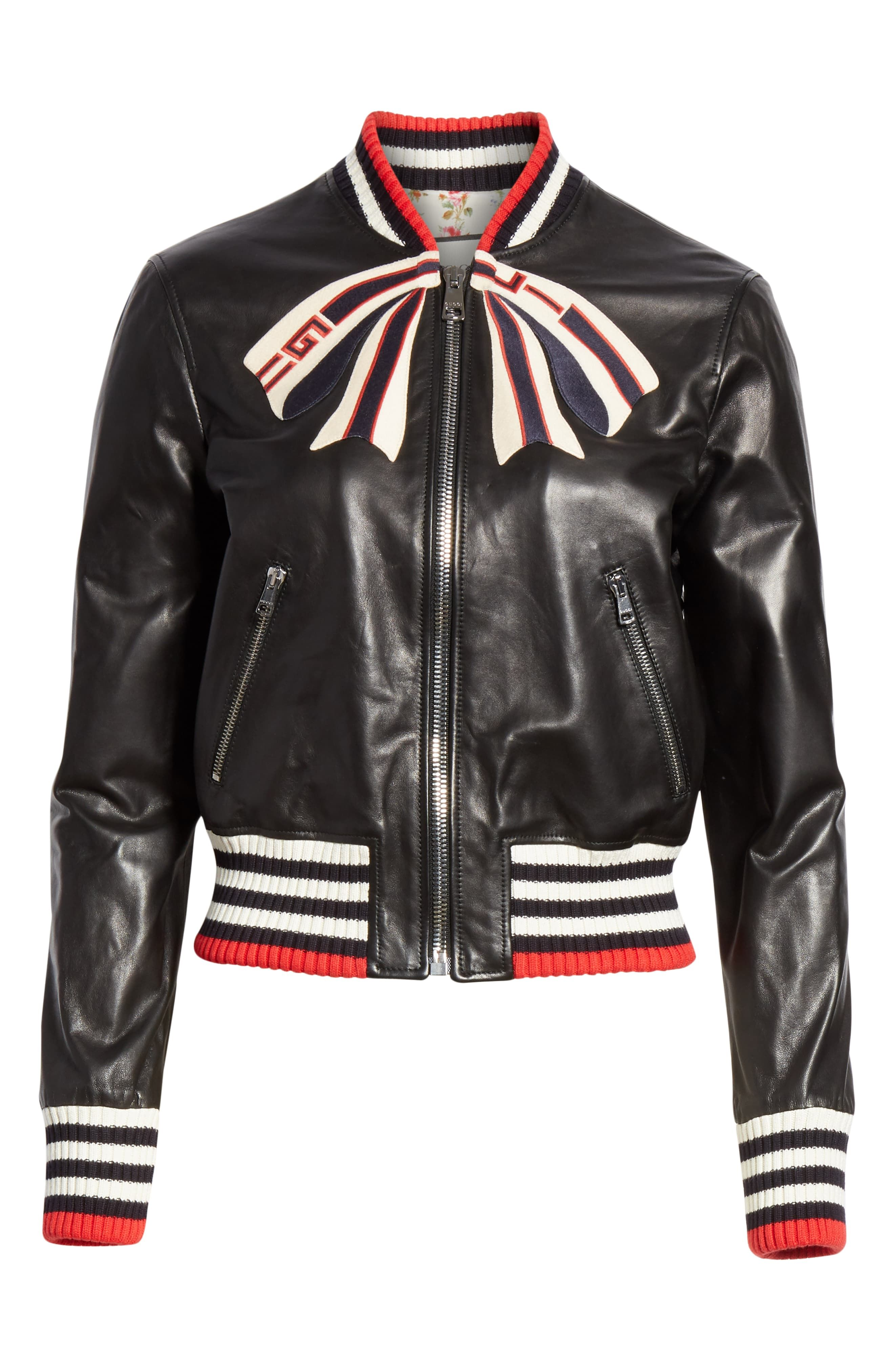 bf8e93316 Leather Bomber Jacket