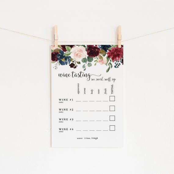 picture regarding Wine Tasting Games Printable identify How in the direction of Toss a Wine-Tasting Social gathering Thatll Impress All Your