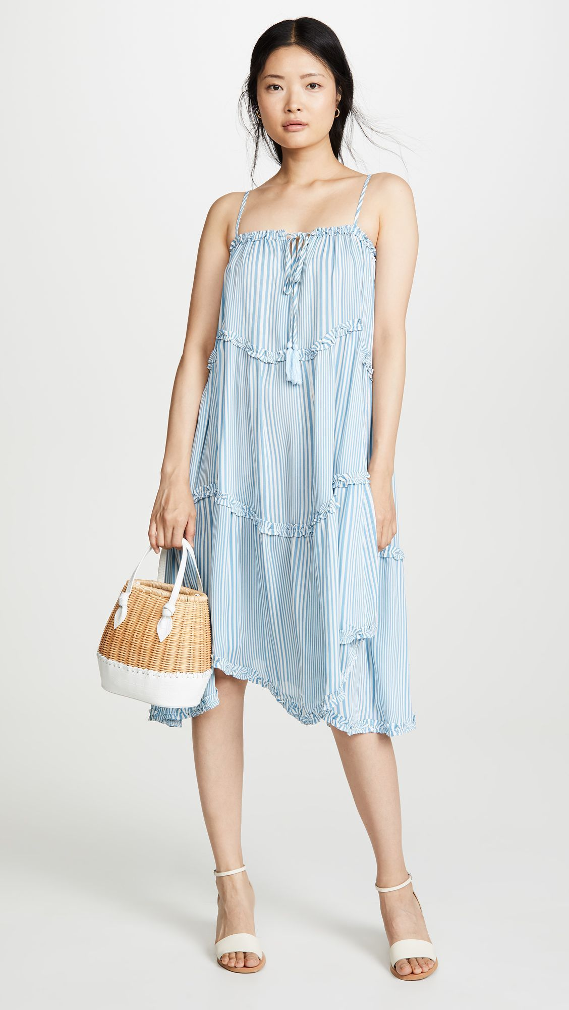 Sky Blue Stripe Dress