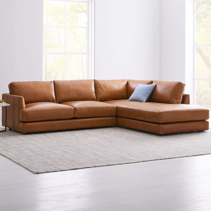 Terrific Haven Leather 2 Piece Chaise Sectional Spiritservingveterans Wood Chair Design Ideas Spiritservingveteransorg