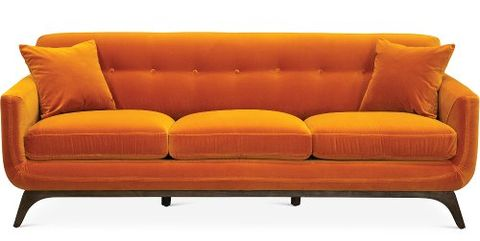 Orange Couches And Leather Sofas