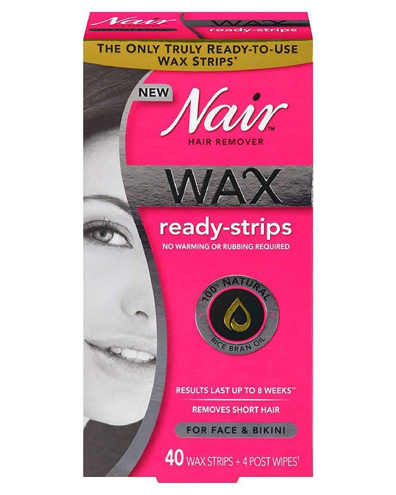 Nair Wax Ready-Strips Hair Remover for Face