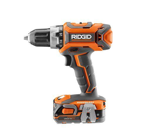 RIDGID 18-VOLT LITHIUM-ION CORDLESS BRUSHLESS DRILL//DRIVER /& IMPACT KIT R9603