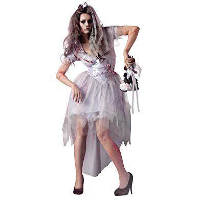 Halloween Costumes Scary Women.Zombie Bride