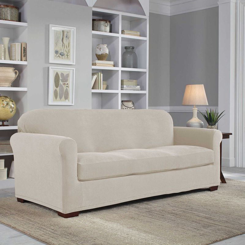 Perfect Fit Easy Fit 2-Piece Sofa Slipcover