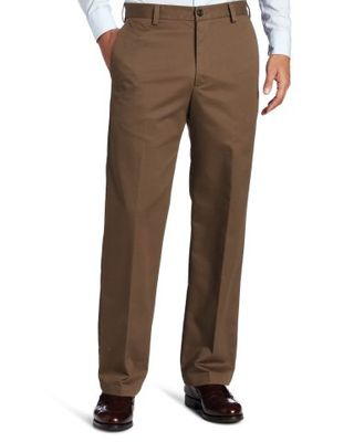 Brown Straight-Fit Pants
