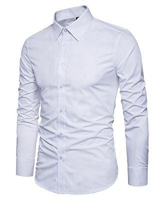 Solid Button Down Dress Shirt