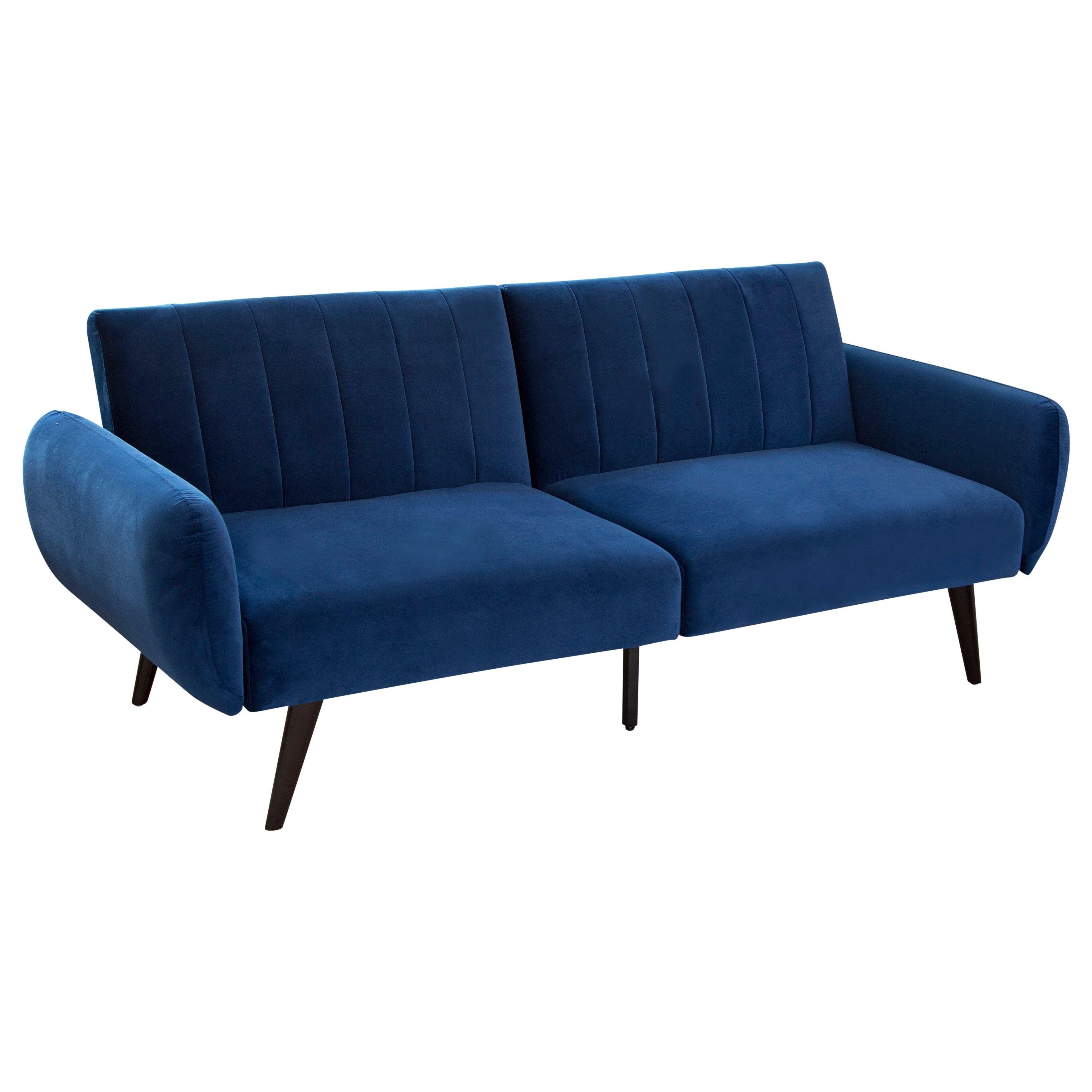 Carlton Foldable Velvet Sofa Bed