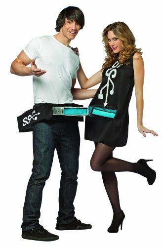 Best Halloween Outfits For Couples.Usb Port And Stick Couples Costume