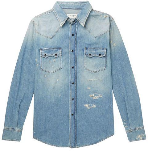 17dd34b6 14 Best Denim Shirts for Men - Casual Denim Button-Up Shirts