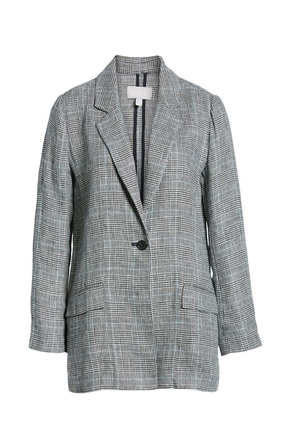 6a8302c653c Single Button Linen Blazer