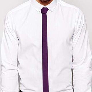 Dark Purple Skinny Tie