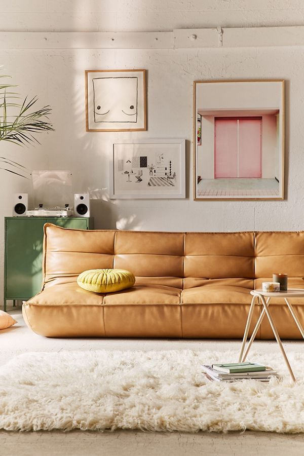 Recycled Leather Sleeper Sofa