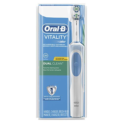 Vitality Dual Clean Rechargeable Battery Electric Toothbrush