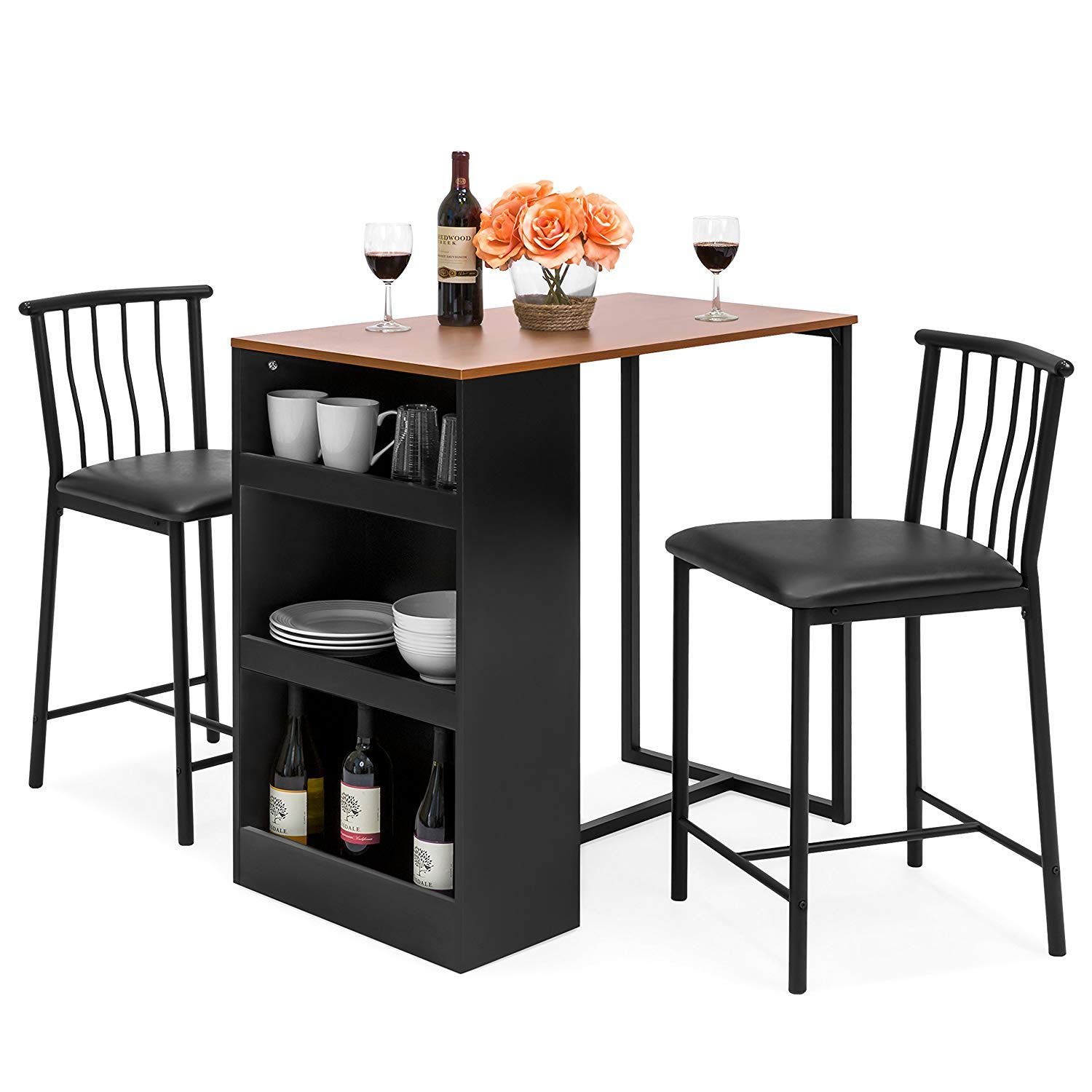 Counter Height Dining Table Set with Storage