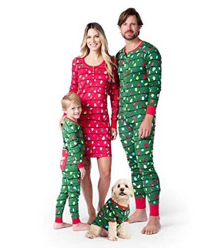 Christmas Pajamas.Christmas Lights Family Pajamas