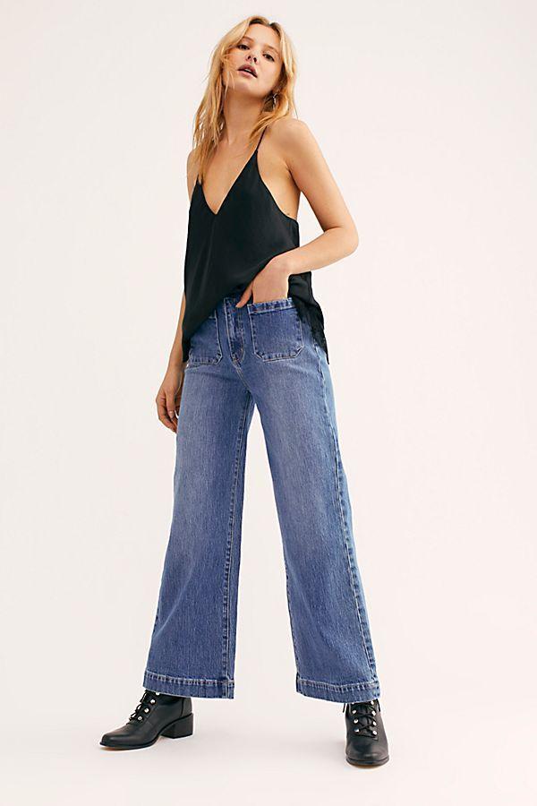 No Figure Digital Printing Broken Style Deep Blue Jeans