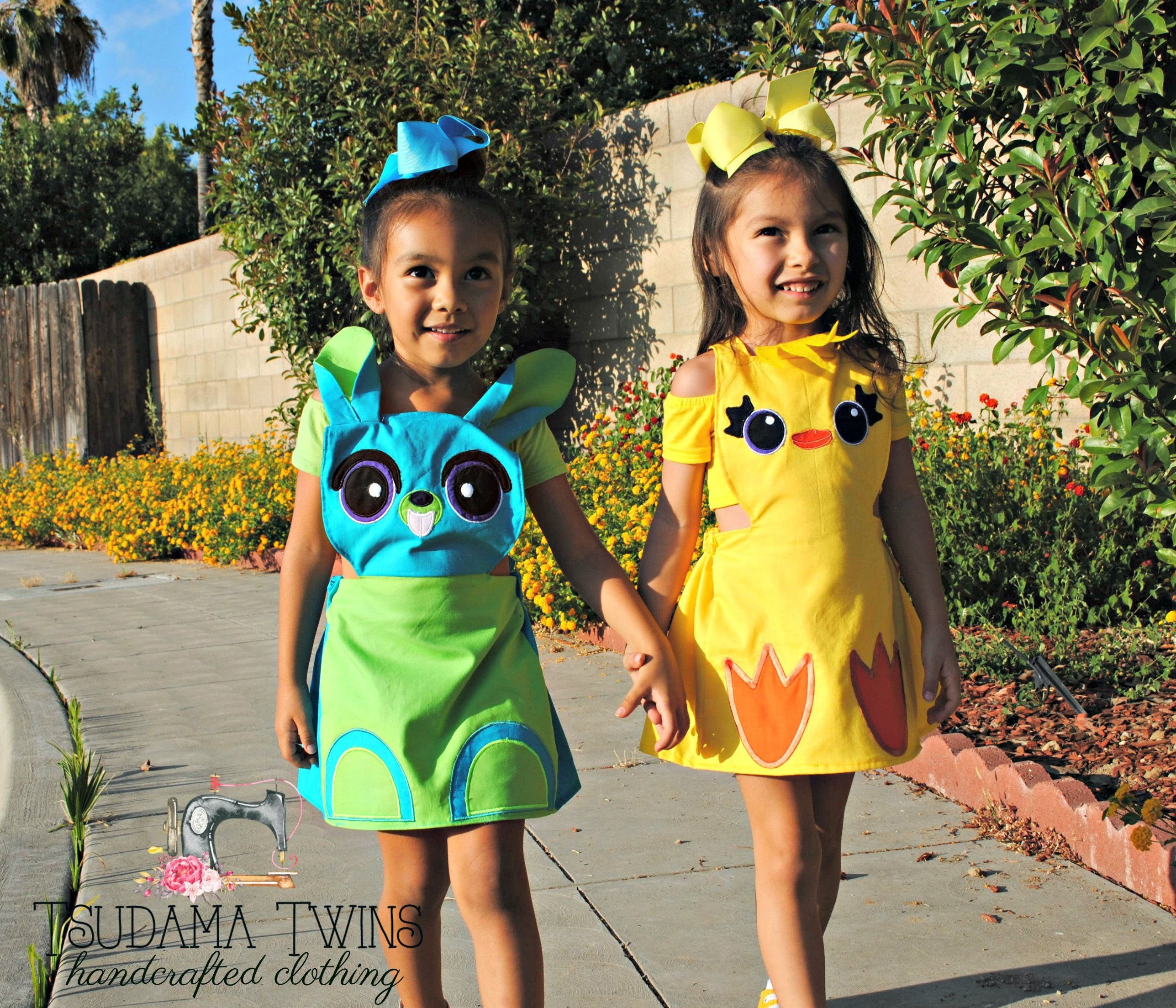 Toy Story 4 Halloween Costumes.Ducky And Bunny Dresses Kid