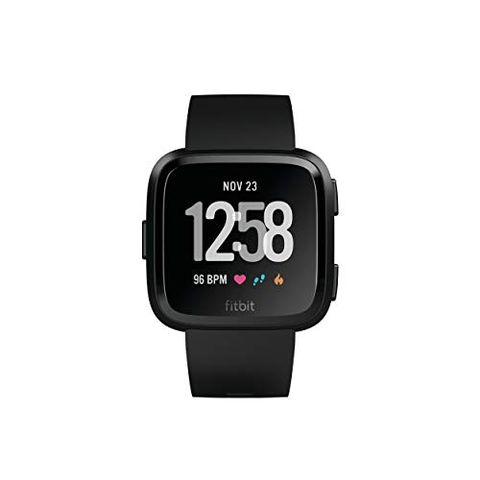 7d64fe8b07f747 1 Fitbit Versa Health & Fitness Smartwatch with Heart Rate, Music & Swim  Tracking, Black