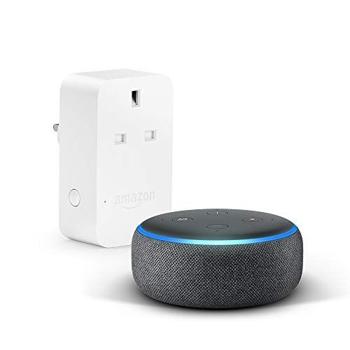 Charcoal Fabric with  Smart Plug Echo 2nd Gen