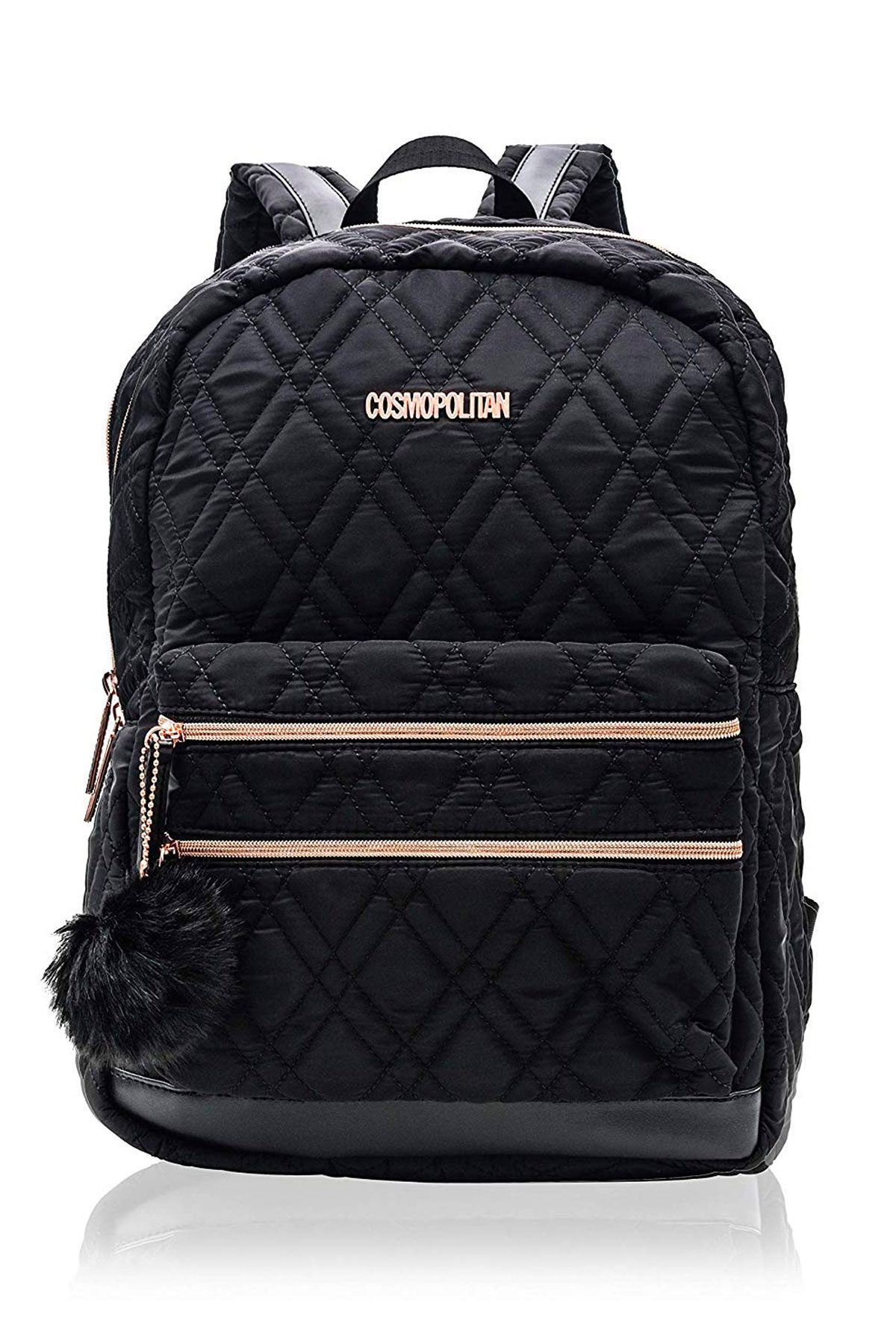 0923b20716 Women's Quilted Travel Backpack with Rose Gold Hardwear