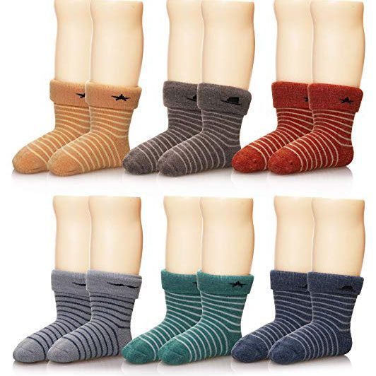 KS SPORT Boys//Kids Blue Cotton Extra Warm Knee High Thermal Socks for Walking Boots /& Wellies
