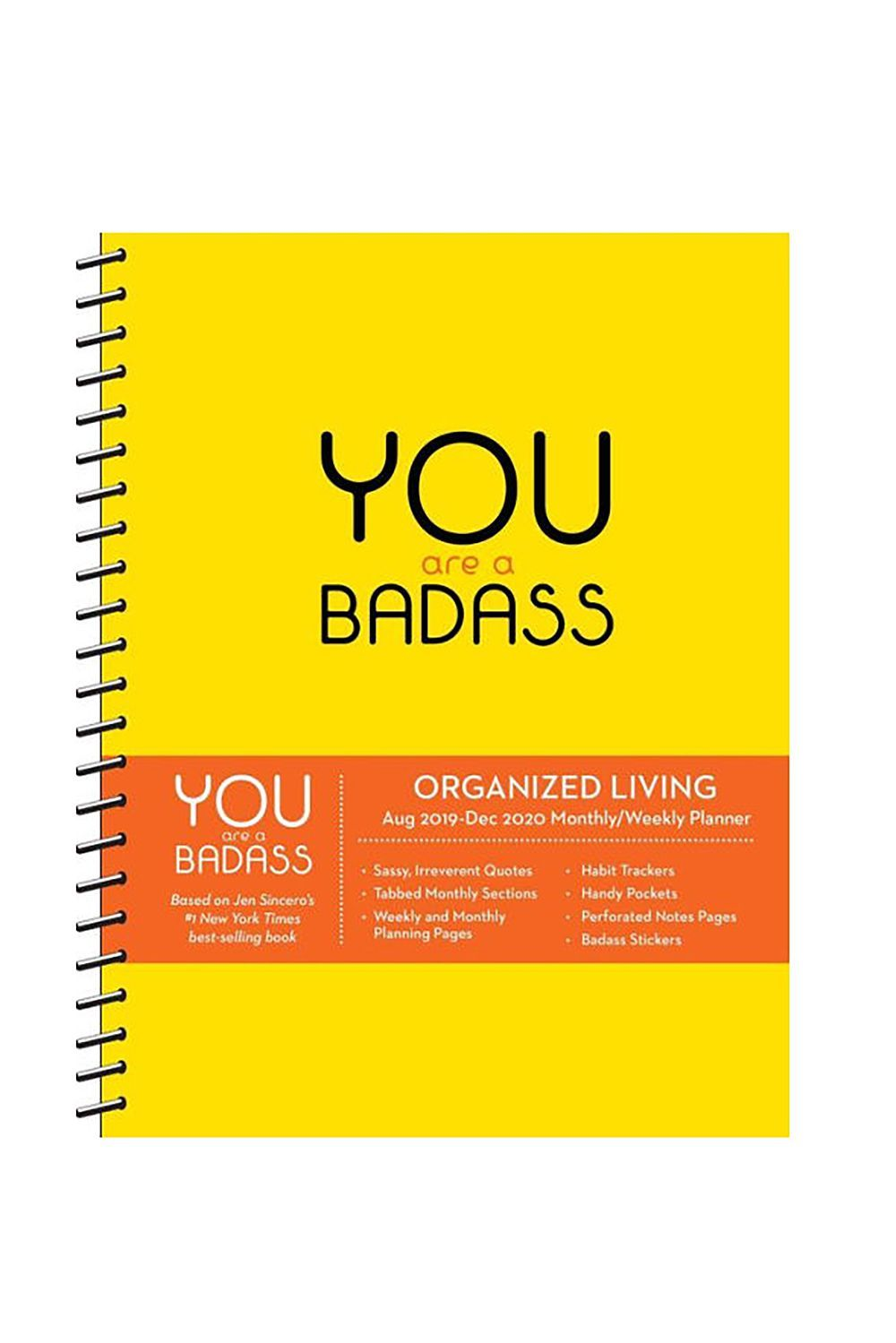 Best Planners And Organizers 2020.You Are A Badass 2020 Day To Day Calendar