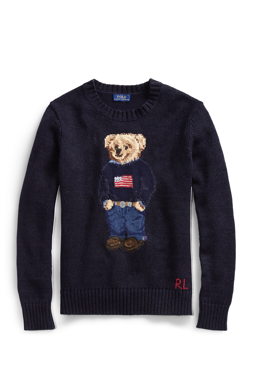 bf9b34224 Polo Bear Cotton-Linen Sweater