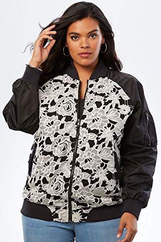 19712071e 15 Best Plus Size Bomber Jackets for Women 2019