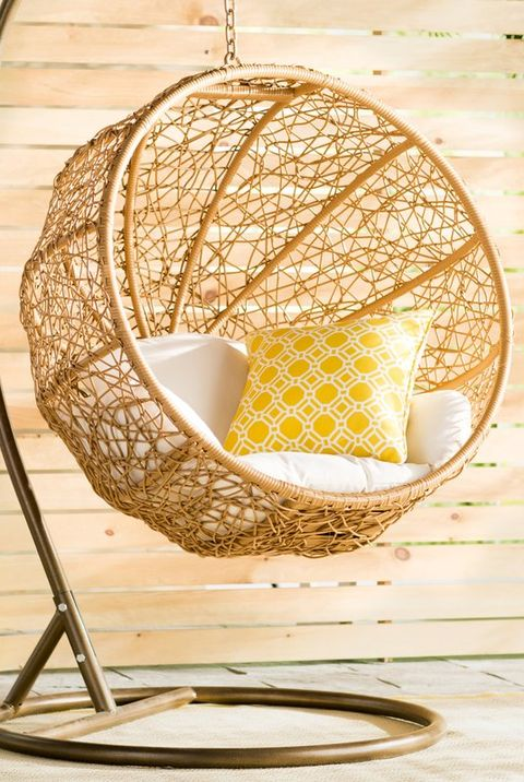 Mid Century Rattan Chair, 12 Best Hanging Chairs Indoor And Outdoor Hammock And Swing Chairs
