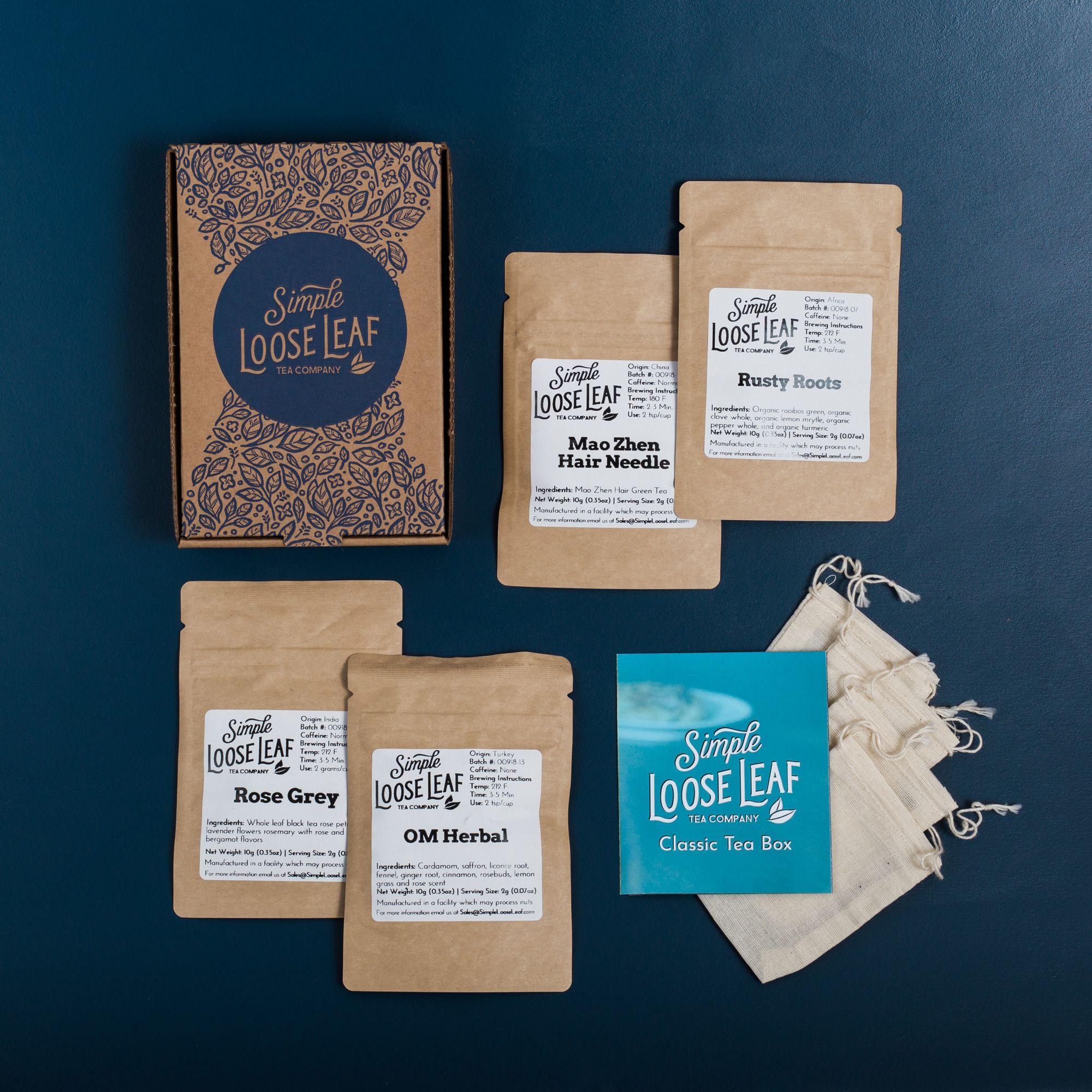 Hand-Packaged Loose Leaf Tea Subscription Box