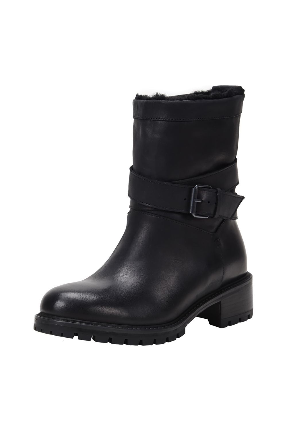 c540436dd9 Genuine Shearling Lined Moto Boot