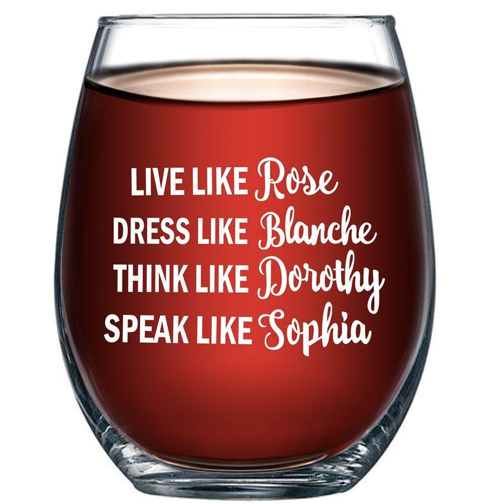 'Golden Girls' Funny Wine Glass