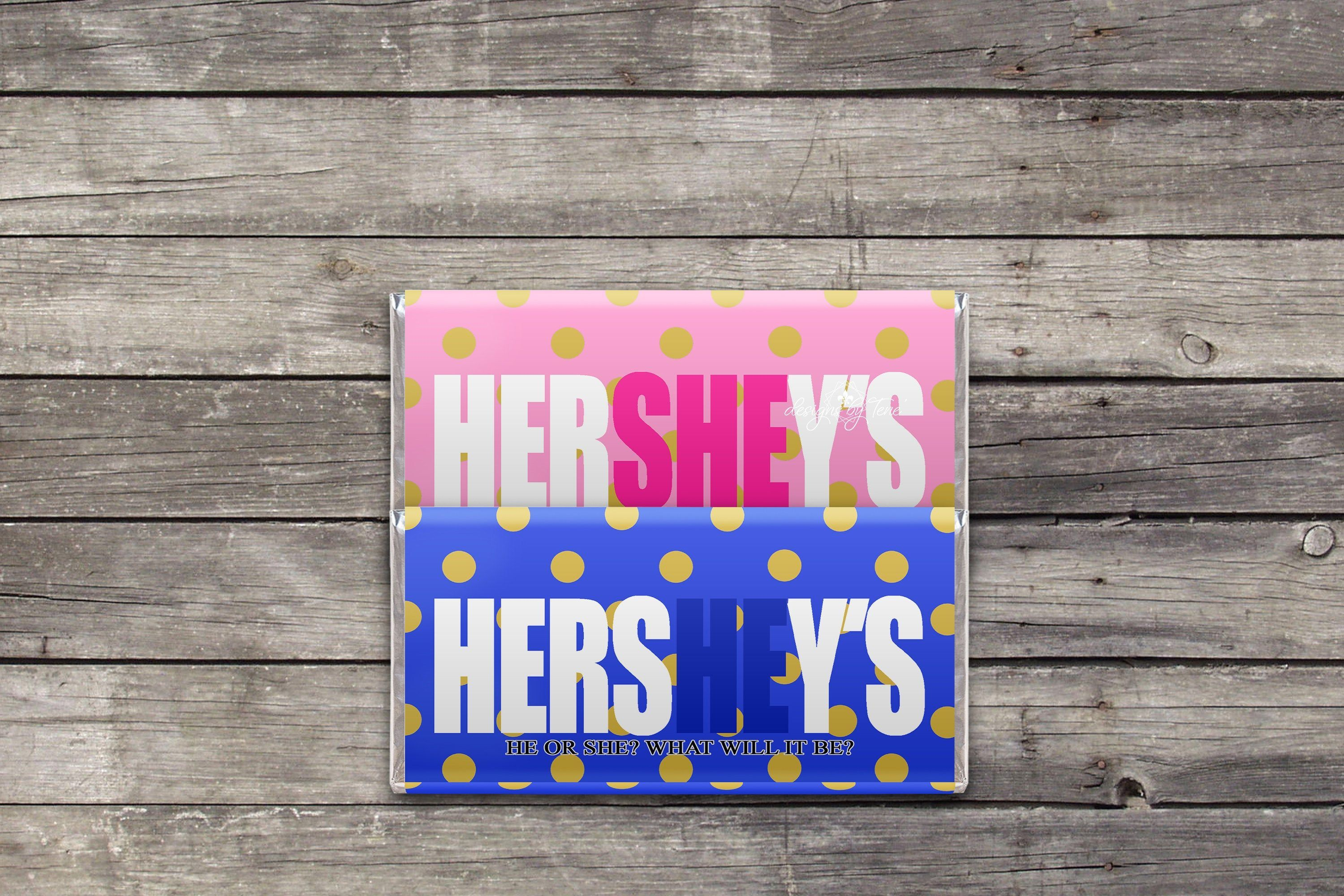 Christmas Gender Reveal Ideas.Hershey Bar Wrapper