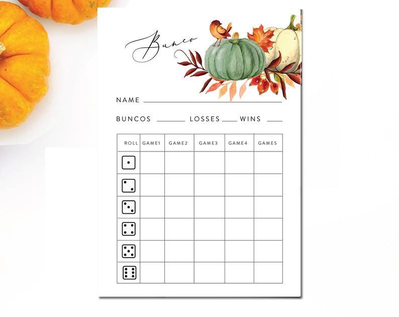 photograph regarding Cute Bunco Score Sheets Printable identified as 17 Enjoyment Thanksgiving Family members Game titles in direction of Enjoy - Great Thanksgiving