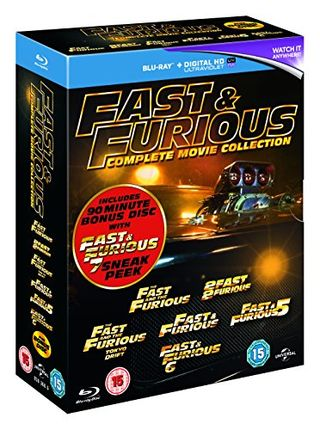 Fast & Furious 1-6 (includes a preview of Fast & Furious 7) [Blu-ray] [2015]