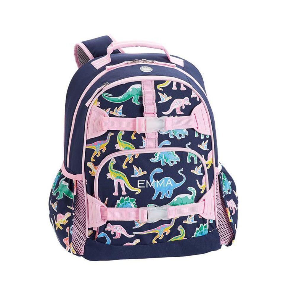Mackenzie Pink Navy Glow In The Dark Dinos Backpacks