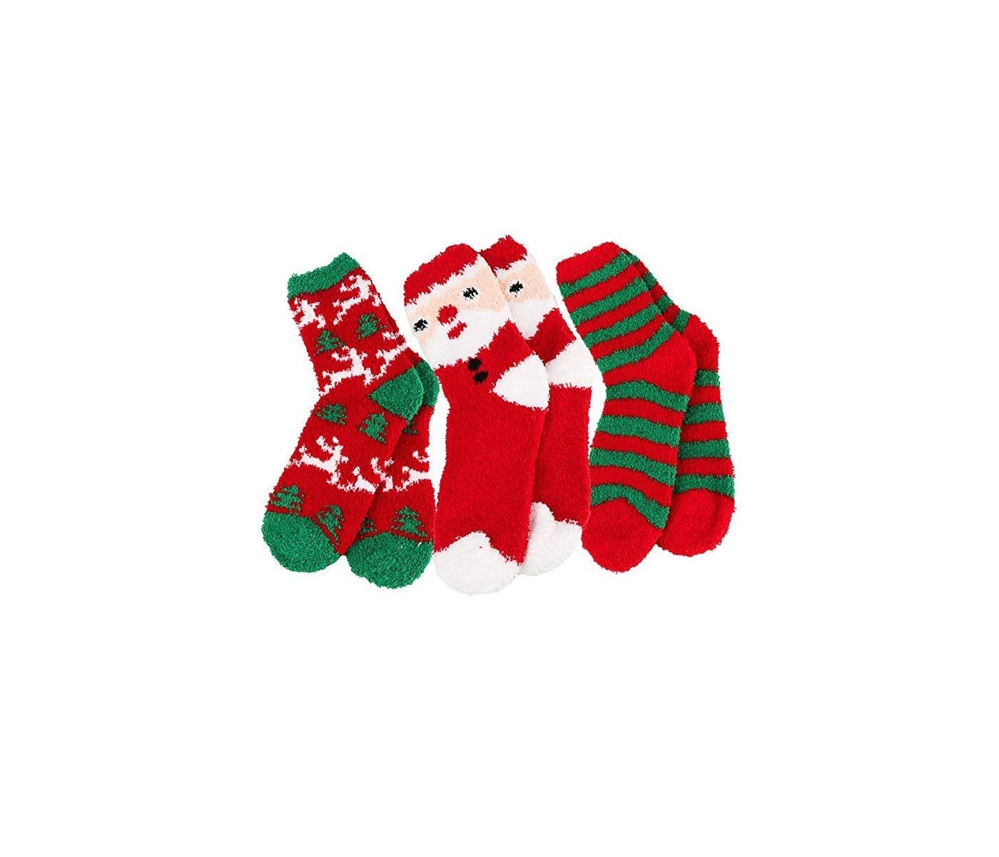 Details about  /Women/'s Girls Christmas Fluffy Socks Ankle-High Winter Warm Stockings Xmas Gift