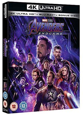Avengers: Endgame 4K ietver bonusa disku [Blu-ray] [2019] [Region Free]