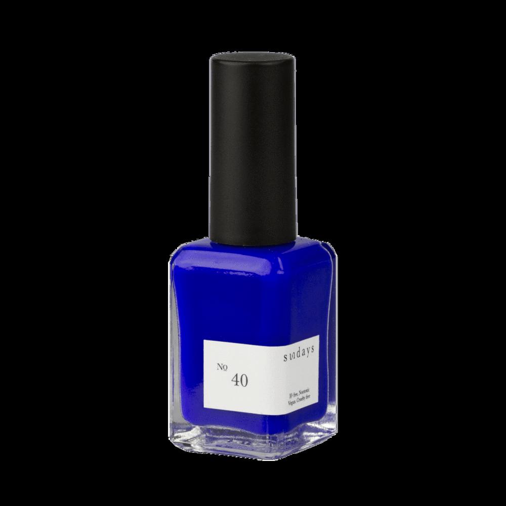 Sundays Nail Polish In No 40 Bright Cobalt