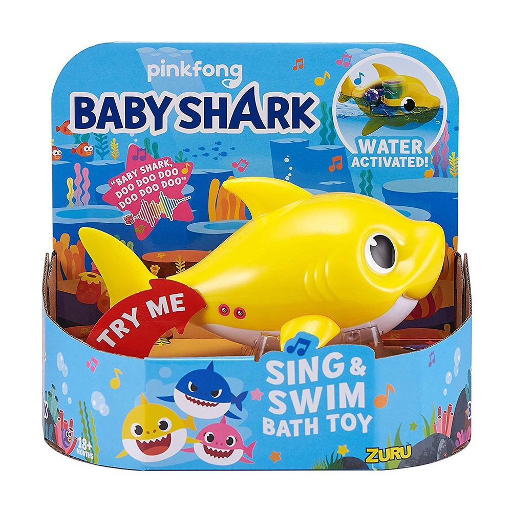 There S A Baby Shark Bath Toy That Sings And Swims Through