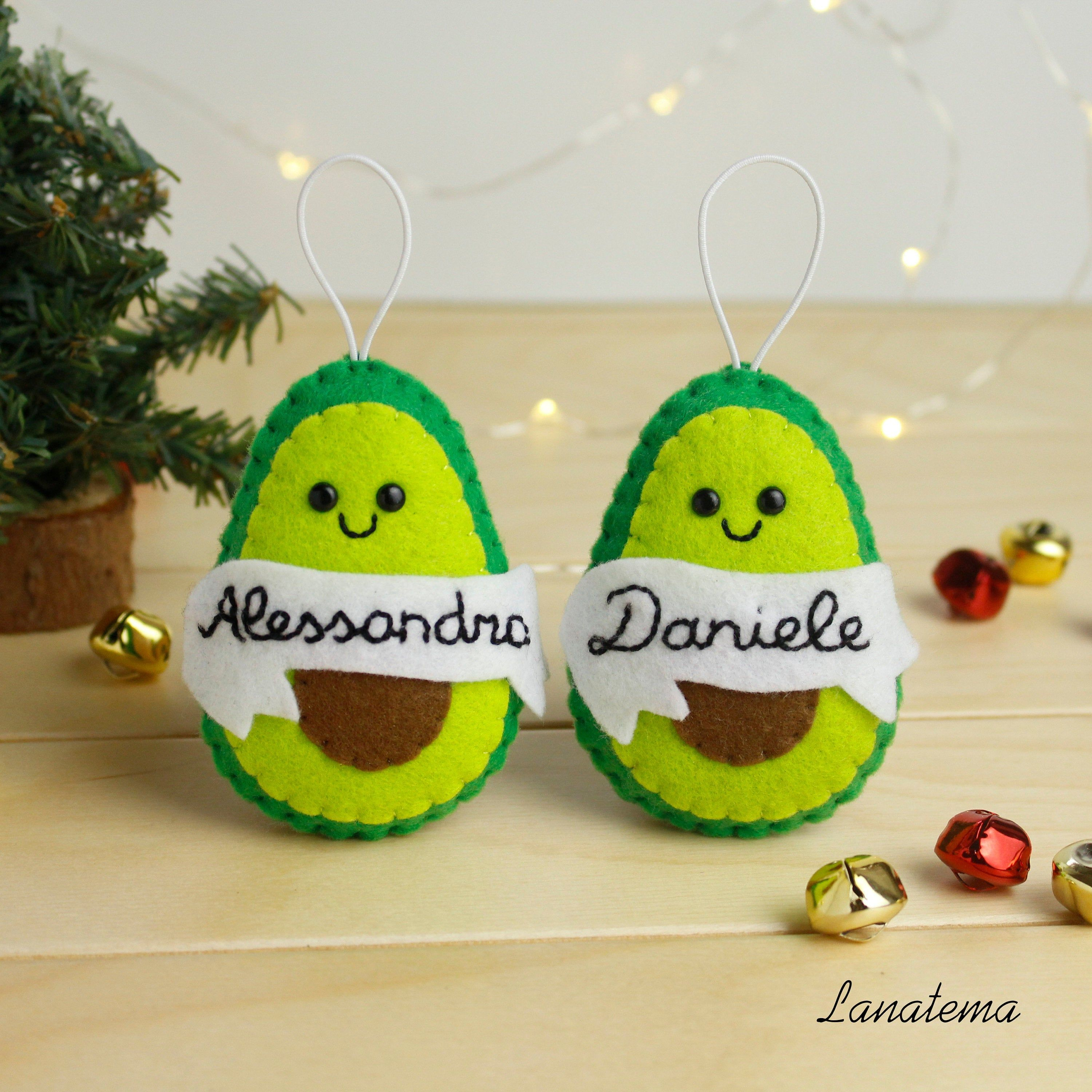 Christmas Gifts For Parents From Infants.Personalized Avocado Ornament