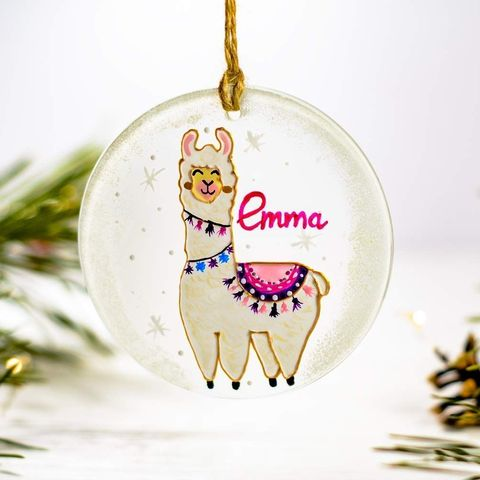 Llama Christmas Decorations.20 Baby S First Christmas Ornaments Personalized Ornaments