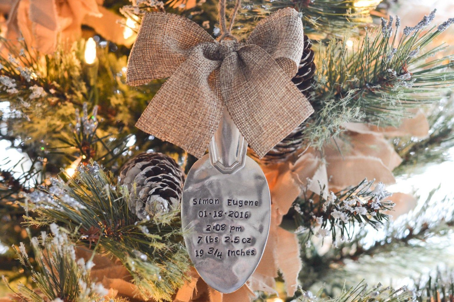 Stamped Baby Spoon Ornament