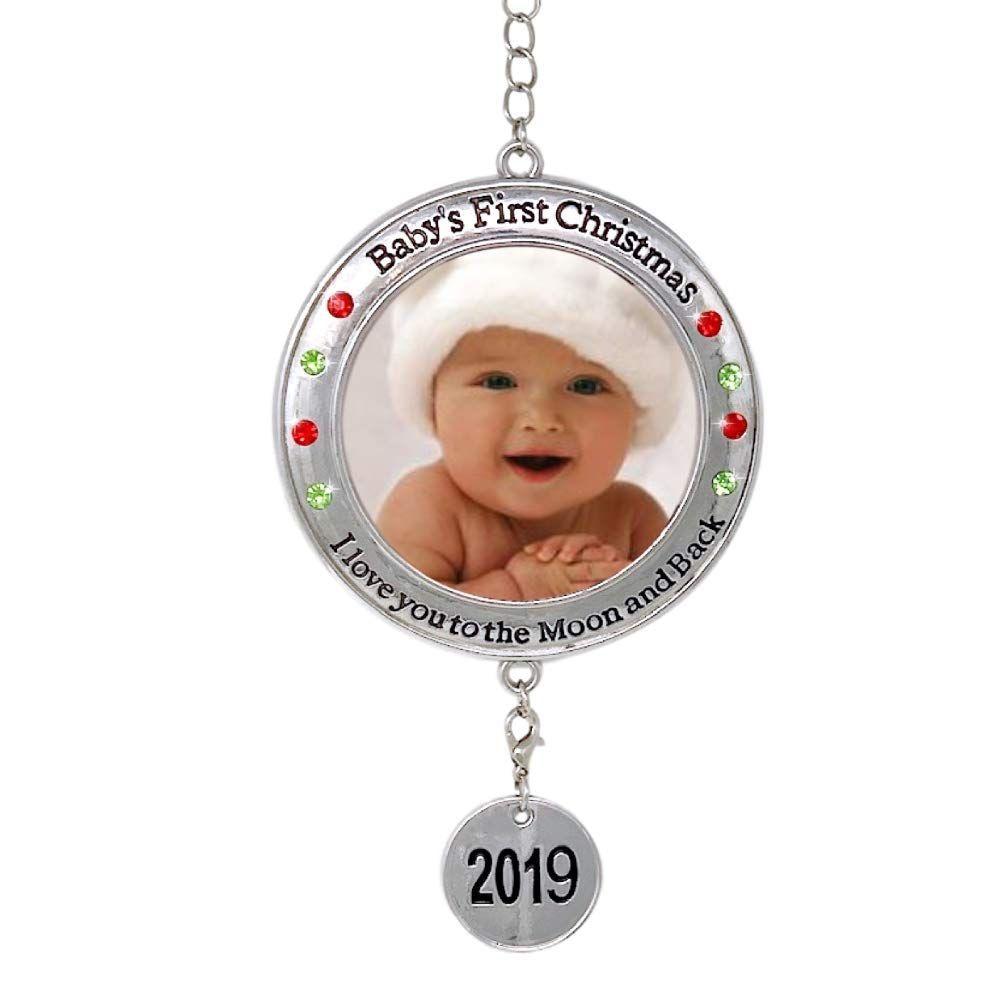 Best Friends Bulb Christmas Ornament Silver Plated Metal Gift Keepsake Pink